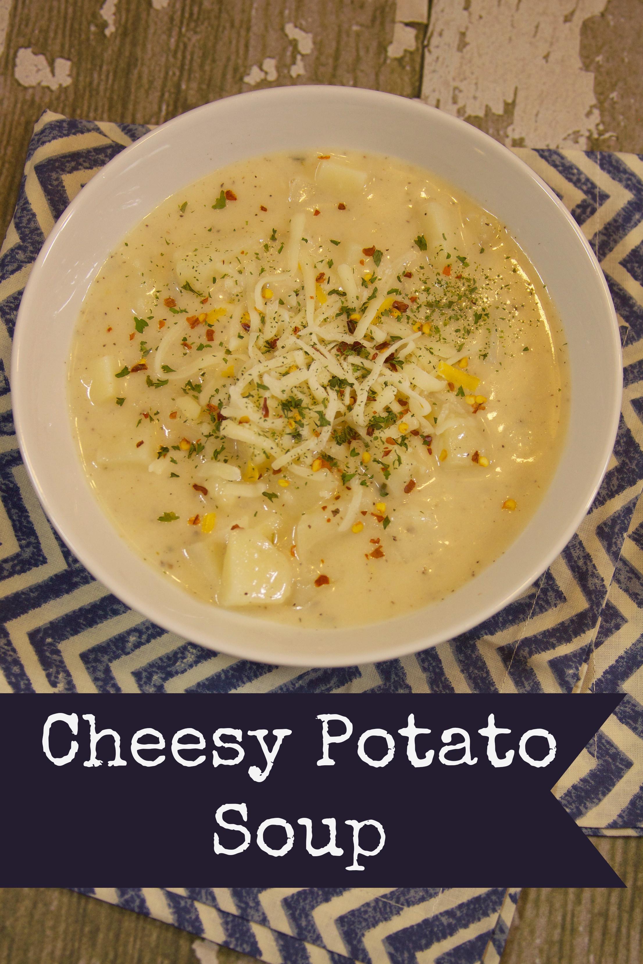 Cheesy Potato Soup  Cheesy Potato Soup A Sparkle of Genius