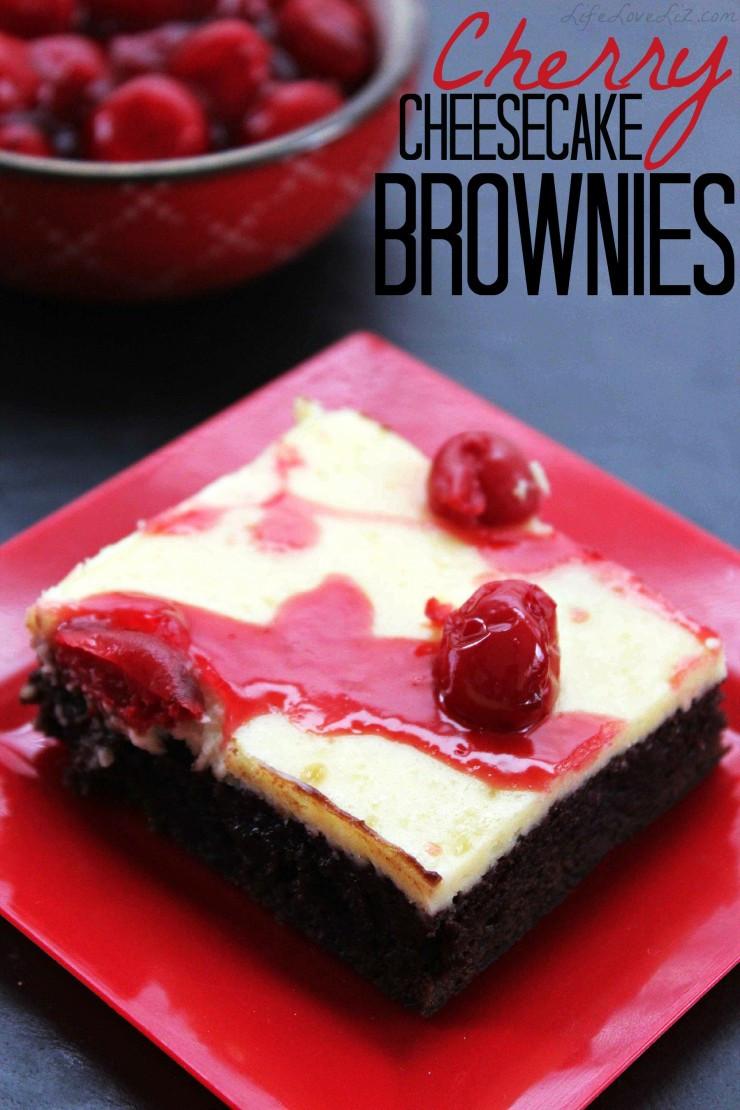 Cherry Cheesecake Brownies  Cherry Cheesecake Brownies Life Love Liz