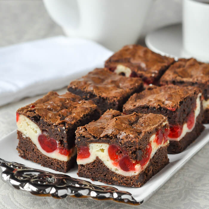 Cherry Cheesecake Brownies  Cherry Cheesecake Brownies two tempting favourites in one