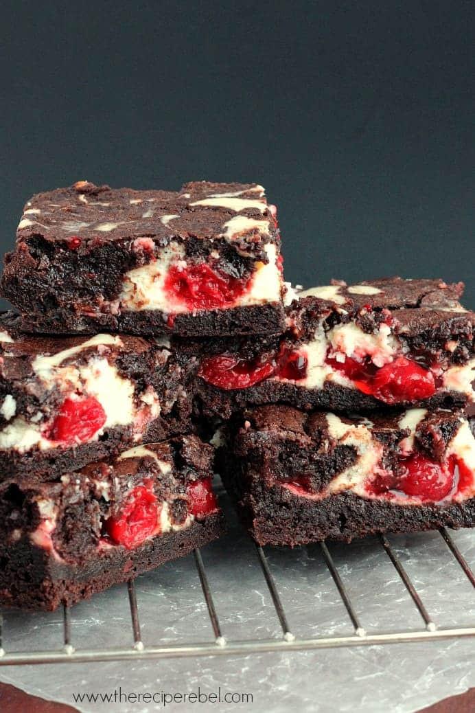 Cherry Cheesecake Brownies  Cherry Cheesecake Brownies The Recipe Rebel
