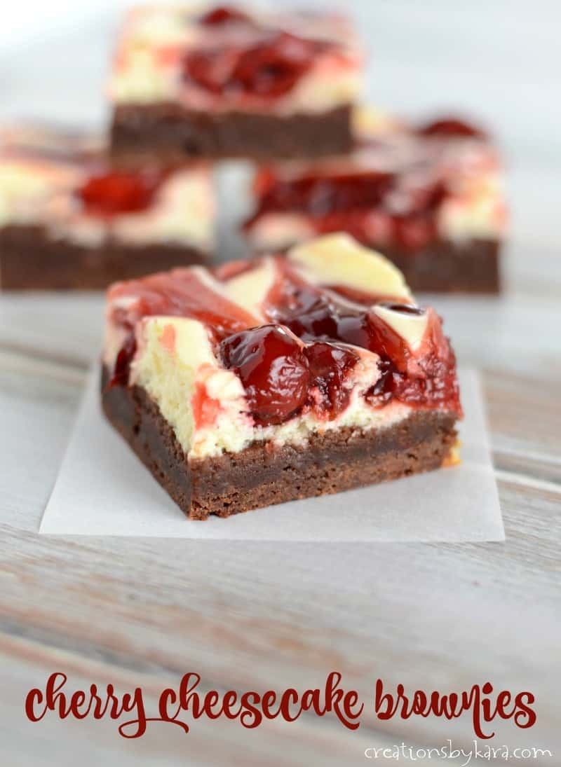 Cherry Cheesecake Brownies  Cherry Cheesecake Brownies Creations by Kara