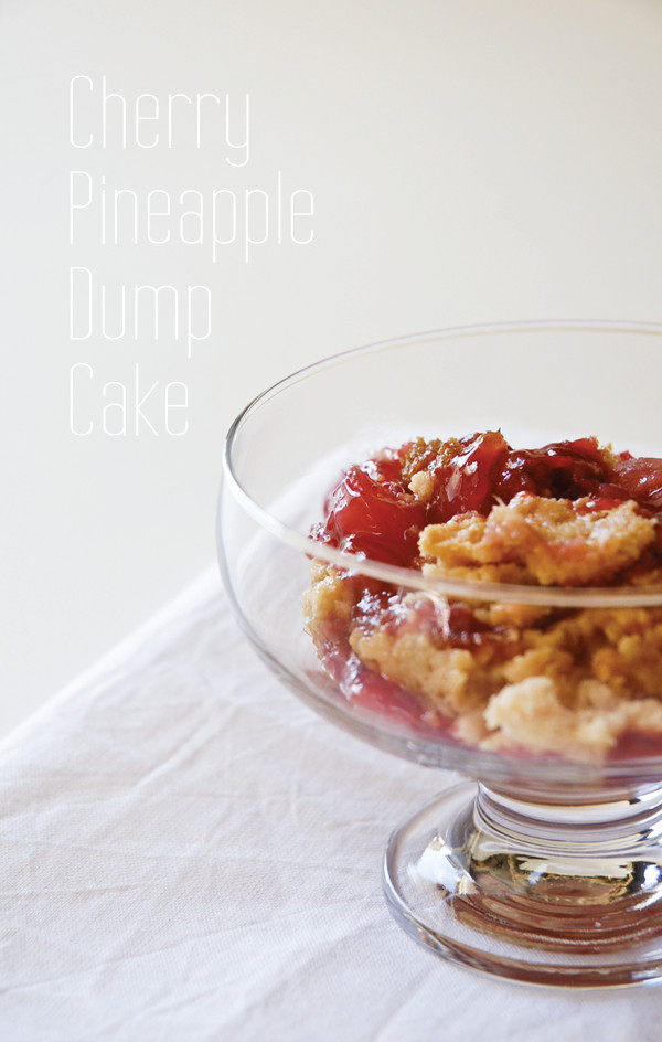 Cherry Pineapple Dump Cake  Cherry Pineapple Dump Cake Title Image Cupcakes and Cutlery