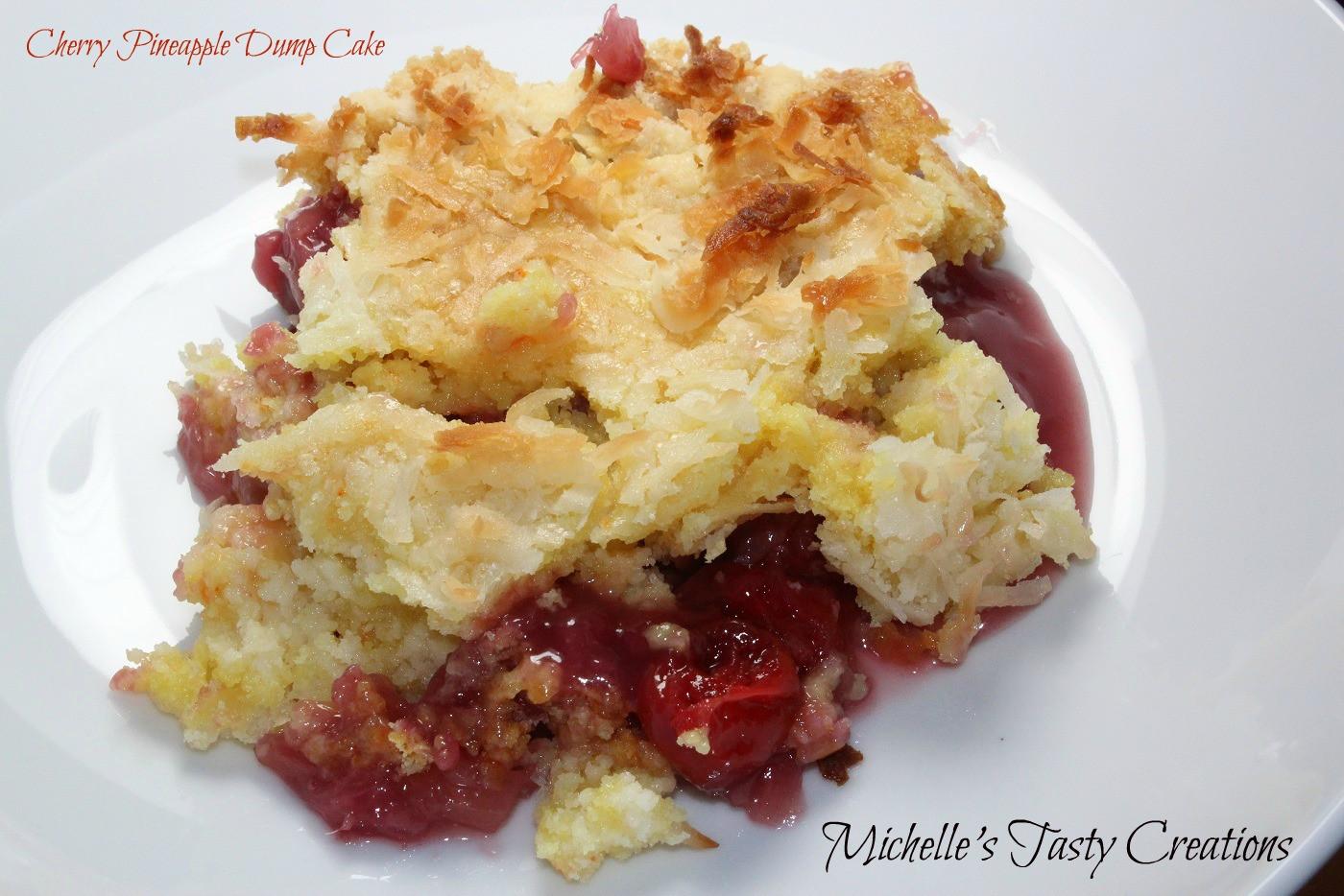 Cherry Pineapple Dump Cake  Michelle s Tasty Creations Cherry Pineapple Dump Cake