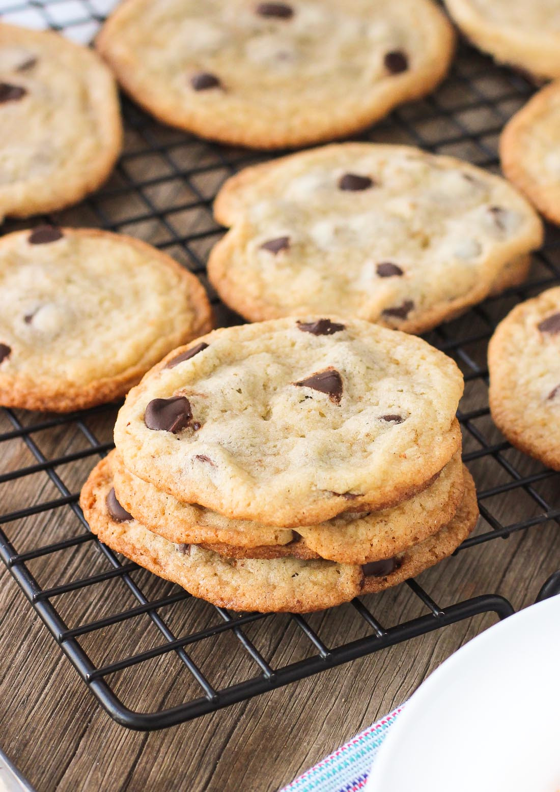 Chewy Chocolate Chip Cookies Recipe  super thin chewy chocolate chip cookies