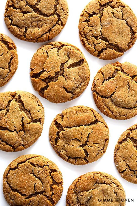Chewy Ginger Molasses Cookies  Chewy Ginger Molasses Cookies Recipe