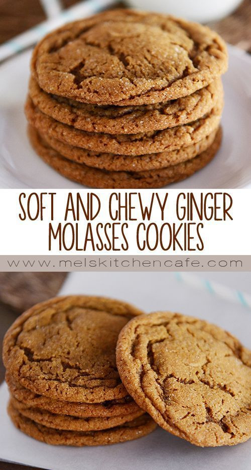 Chewy Ginger Molasses Cookies  Soft and Chewy Ginger Molasses Cookies Recipe