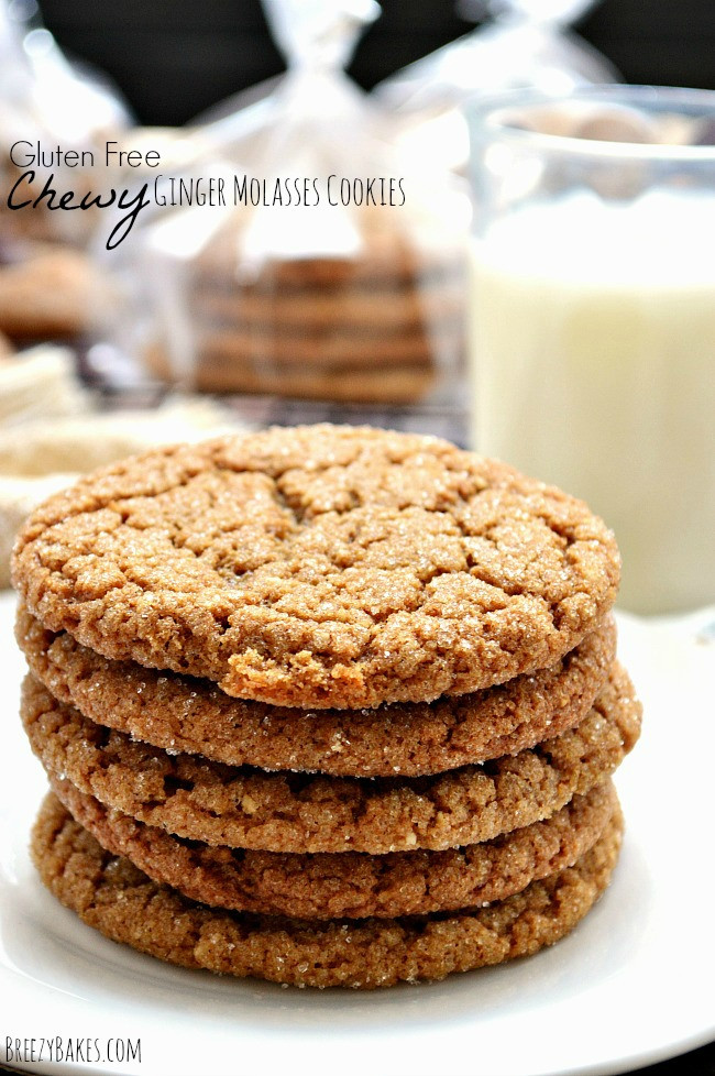 Chewy Ginger Molasses Cookies  Gluten Free Chewy Ginger Molasses Cookies