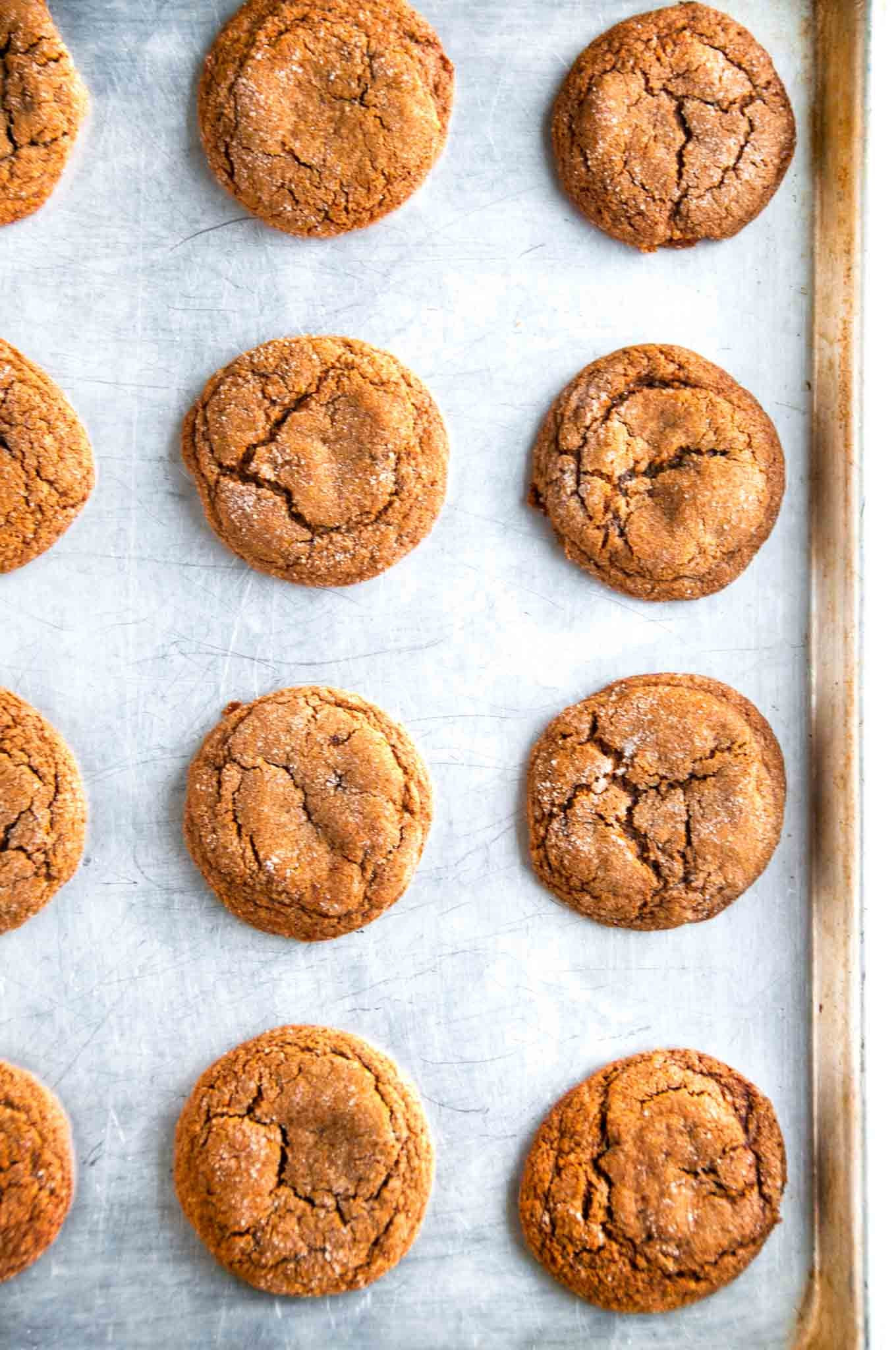 Chewy Ginger Molasses Cookies  Chewy Ginger Molasses Cookies Aberdeen s Kitchen