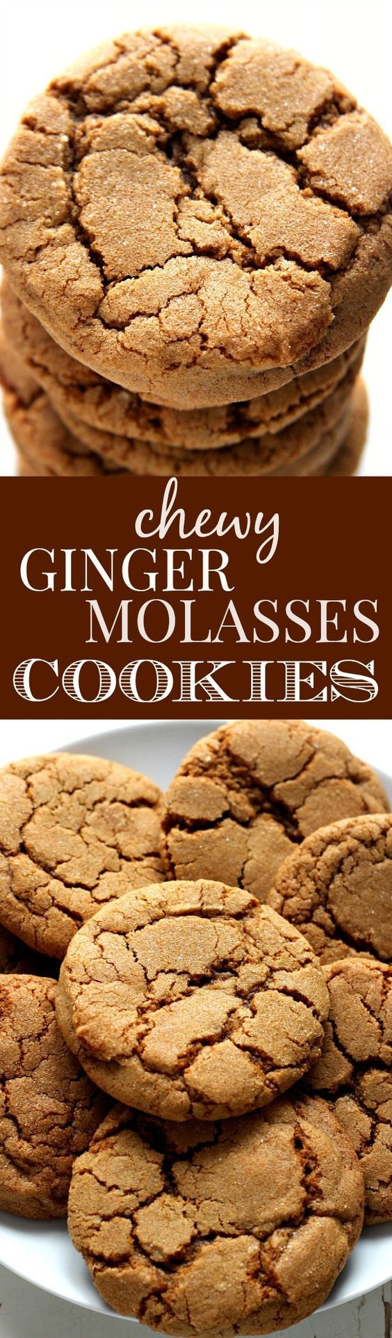 Chewy Ginger Molasses Cookies  Pinterest • The world's catalog of ideas