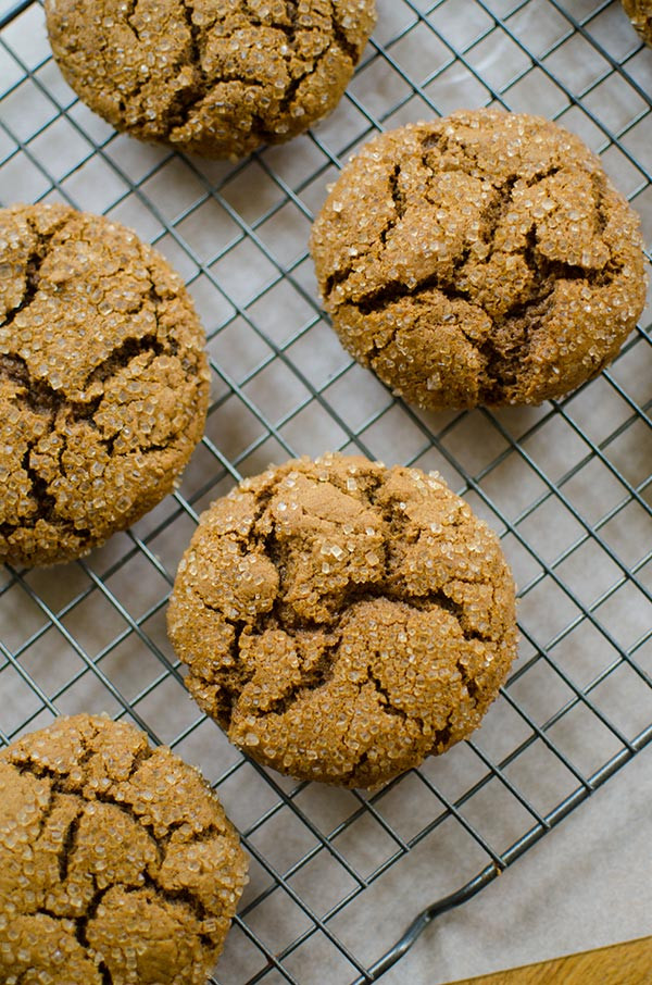 Chewy Ginger Molasses Cookies  chewy ginger molasses cookies — Living Lou