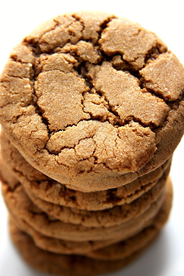 Chewy Molasses Cookies  Chewy Ginger Molasses Cookies Crunchy Creamy Sweet