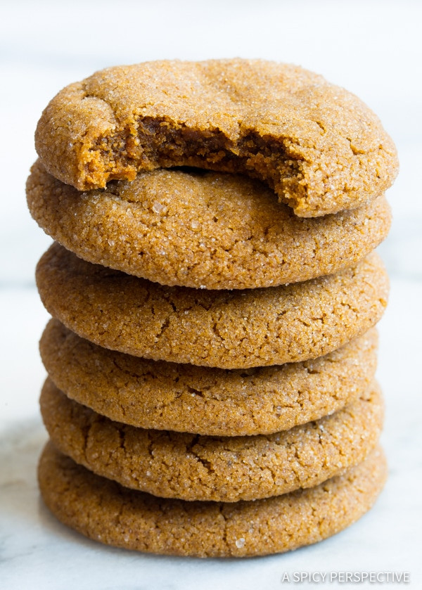 Chewy Molasses Cookies  Soft Chewy Molasses Cookies A Spicy Perspective