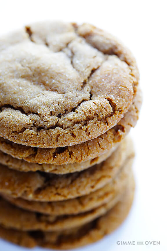 Chewy Molasses Cookies  Chewy Ginger Molasses Cookies