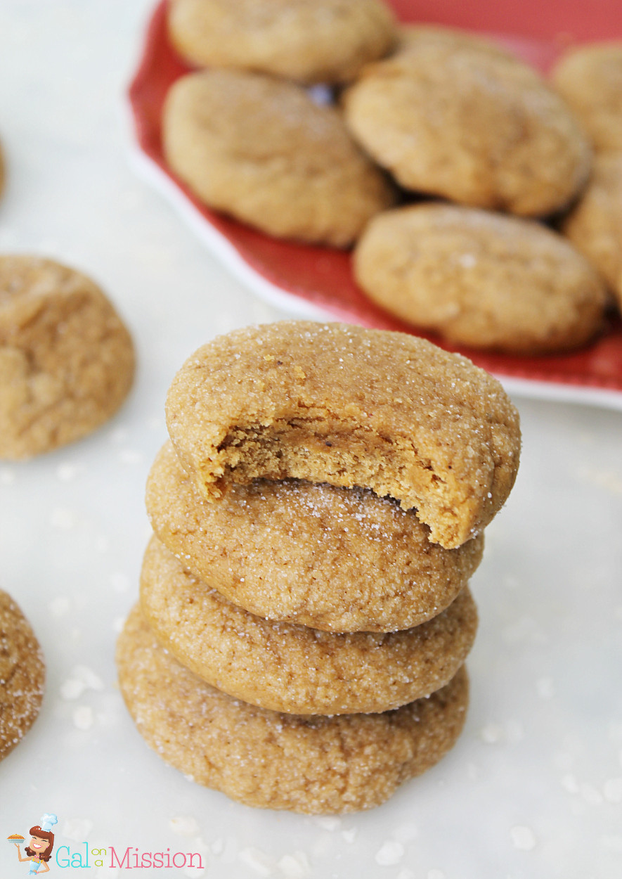 Chewy Molasses Cookies  Chewy Molasses Cookies Gal on a Mission