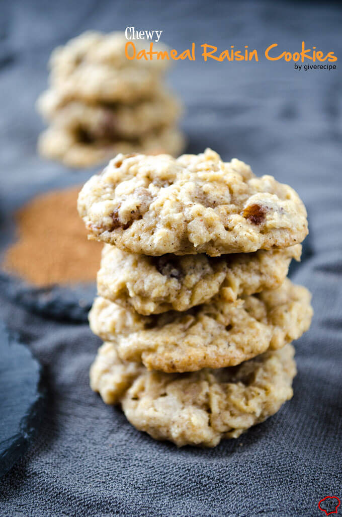 Chewy Oatmeal Cookies Recipe  Soft chewy melt in your mouth gluten free oatmeal raisin