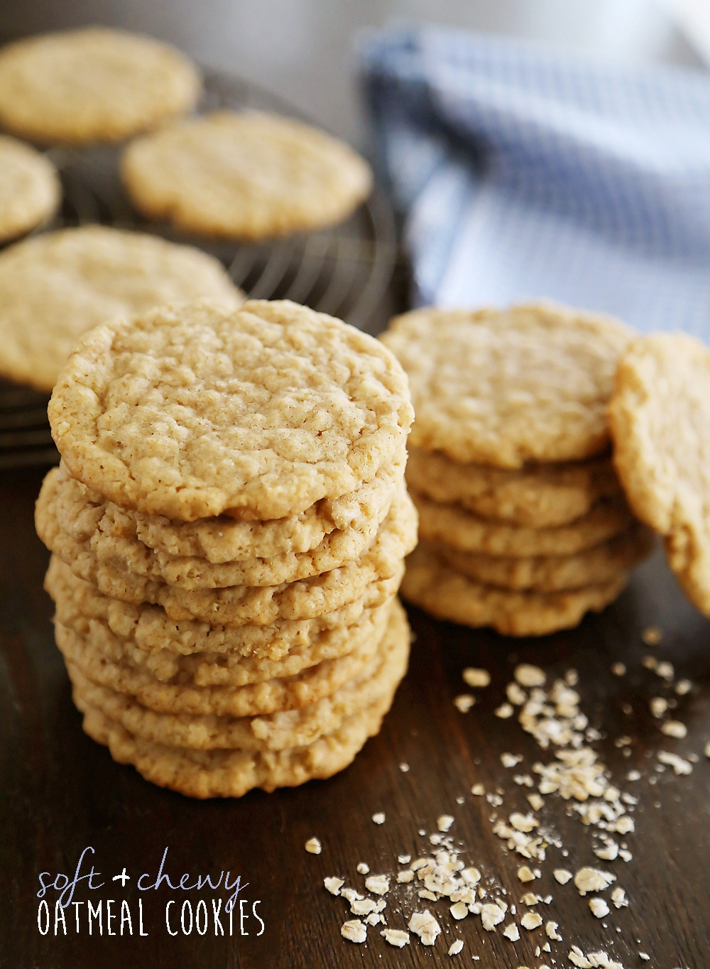 Chewy Oatmeal Cookies Recipe  Old Fashioned Soft and Chewy Oatmeal Cookies