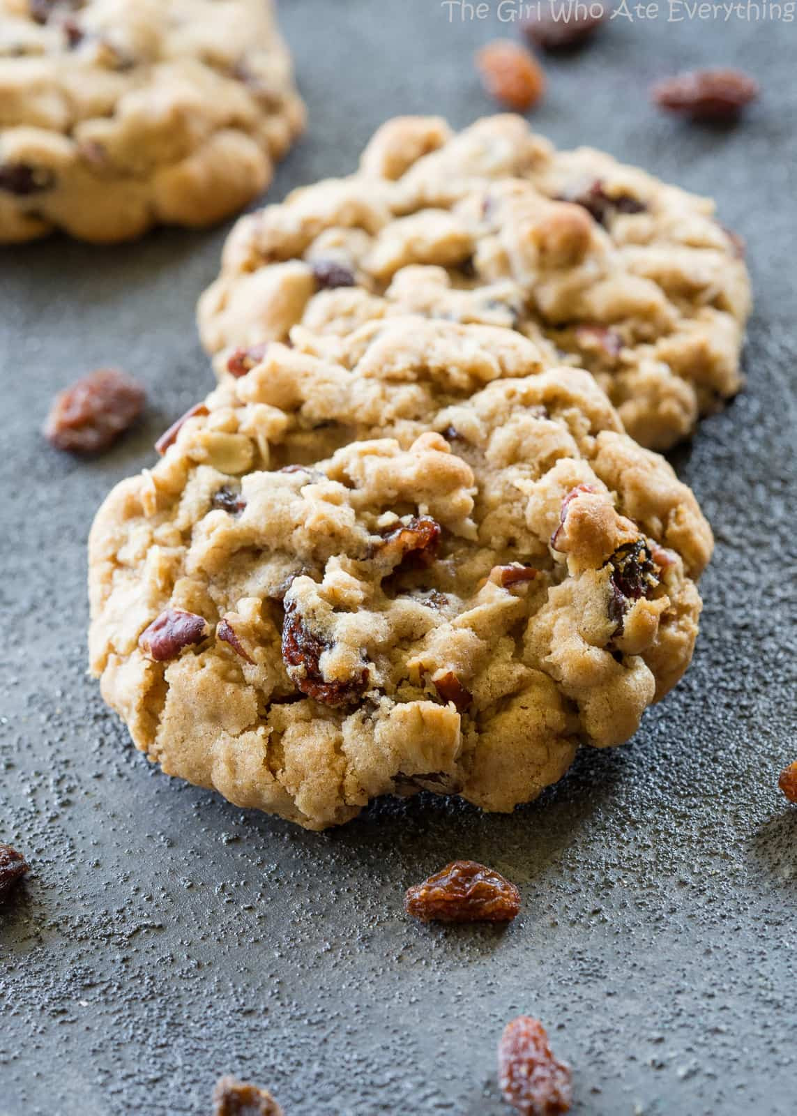 Chewy Oatmeal Cookies Recipe  Chewy Oatmeal Raisin Cookies The Girl Who Ate Everything