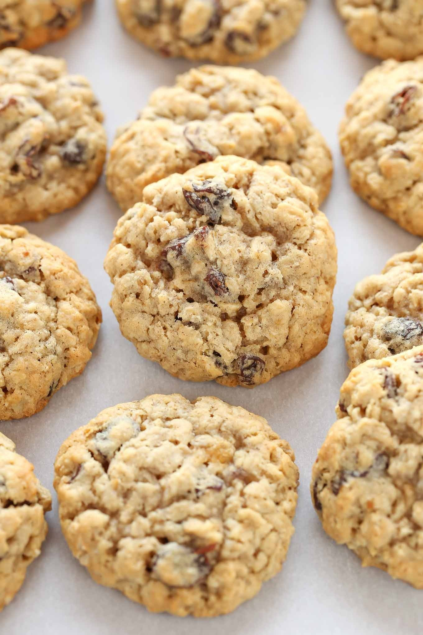 Chewy Oatmeal Cookies Recipe  Soft and Chewy Oatmeal Raisin Cookies