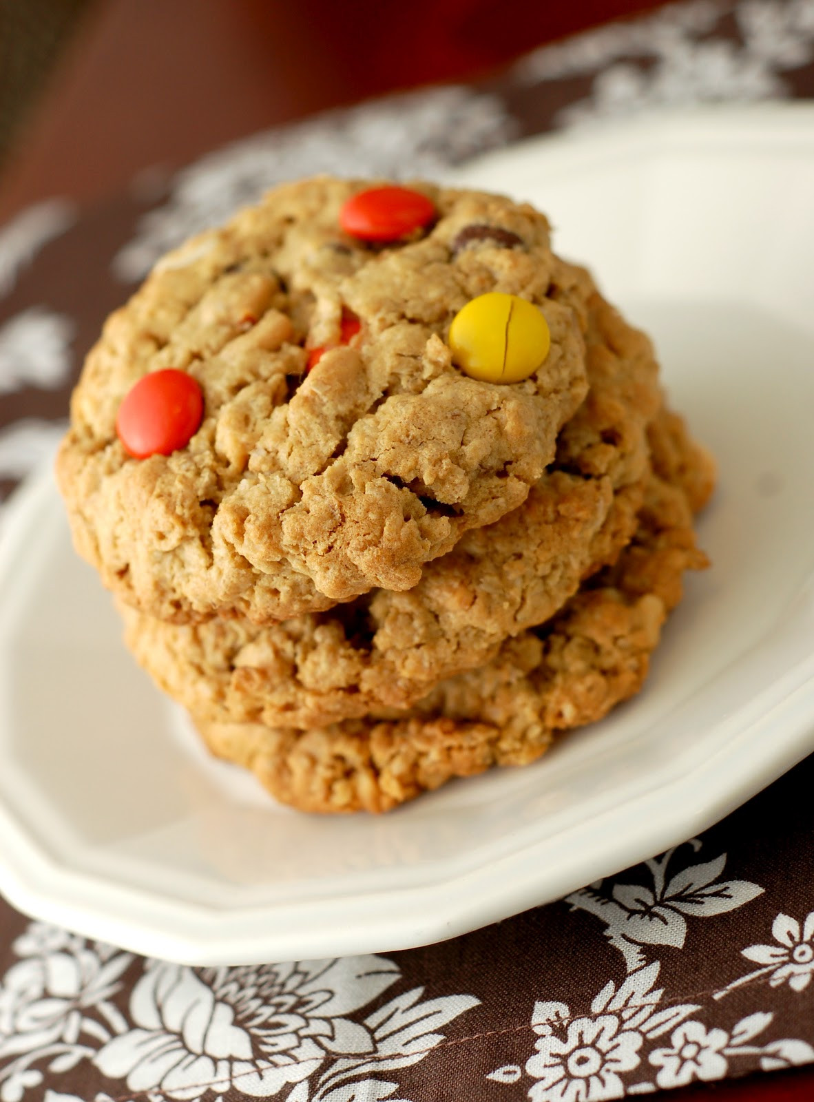 Chewy Peanut Butter Oatmeal Cookies  Chewy Reese s Pieces Peanut Butter Oatmeal Cookies A