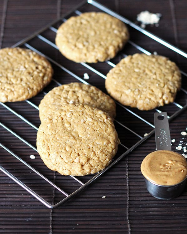 Chewy Peanut Butter Oatmeal Cookies  Chewy Peanut Butter Oatmeal Cookies – LeelaLicious