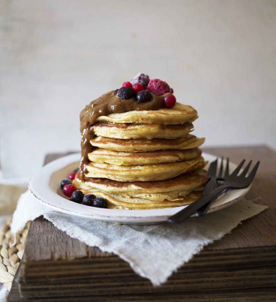 Chick Pea Flour Pancakes  Chickpea Flour Pancakes and Date Caramel