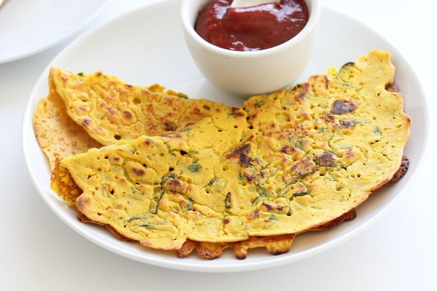 Chick Pea Flour Pancakes  Classic Savory Indian Chickpea Flour Pancakes Recipe