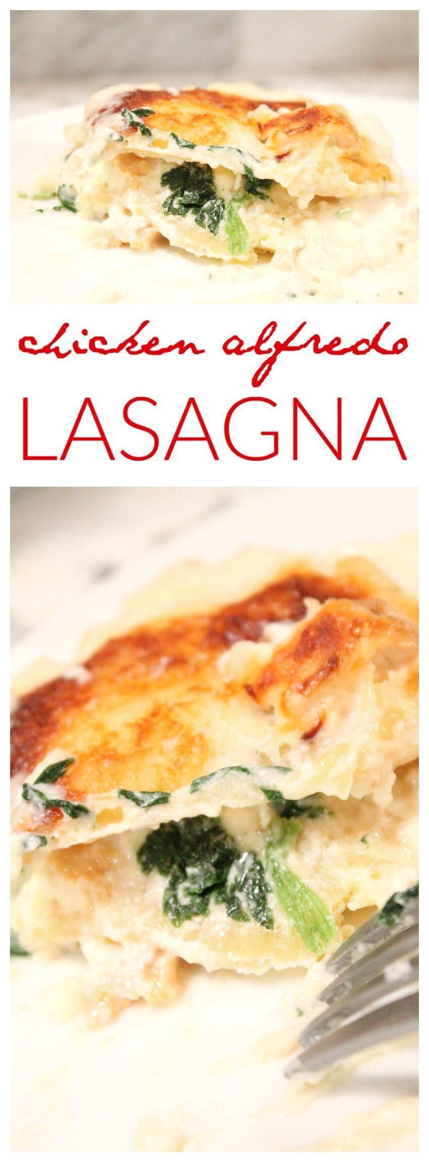 Chicken Alfredo Lasagna  Chicken Alfredo Lasagna Recipe