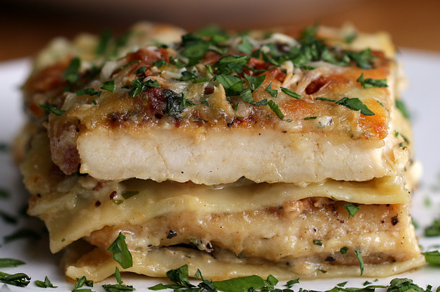 Chicken Alfredo Lasagna  chicken alfredo lasagna recipe on