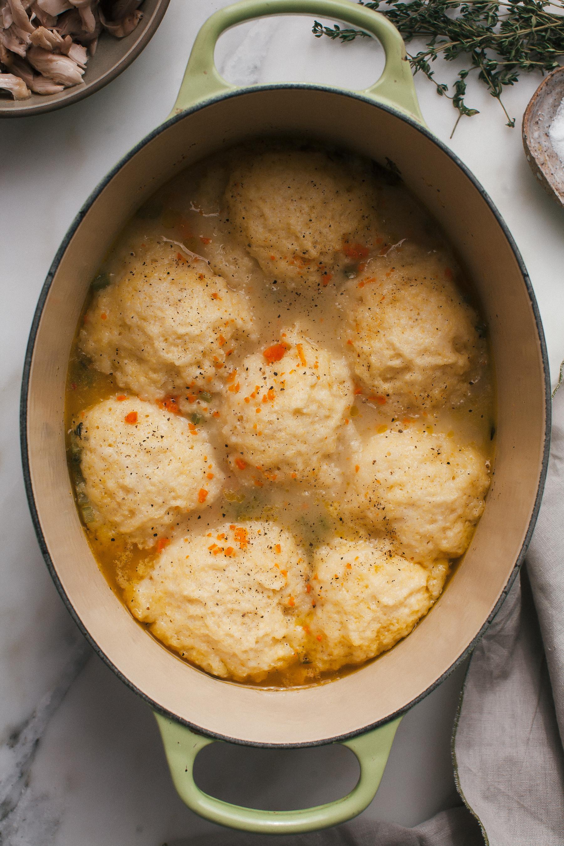 Chicken & Dumplings  Cornbread Chicken Dumplings – A Cozy Kitchen