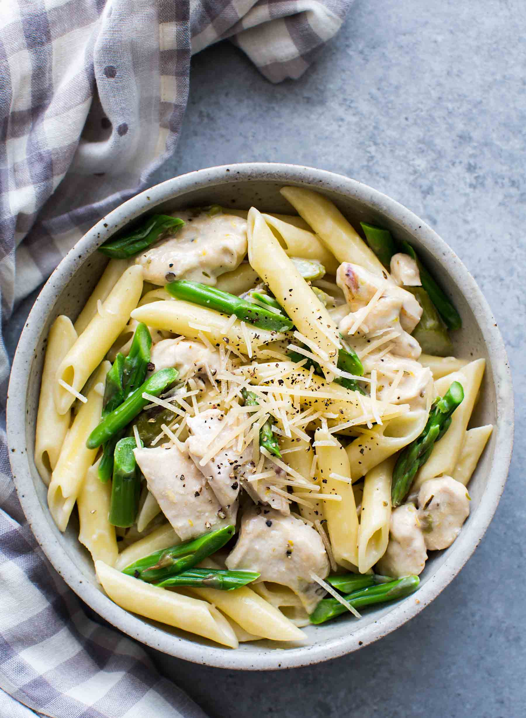 Chicken And Asparagus  Creamy Chicken and Asparagus Pasta Recipe