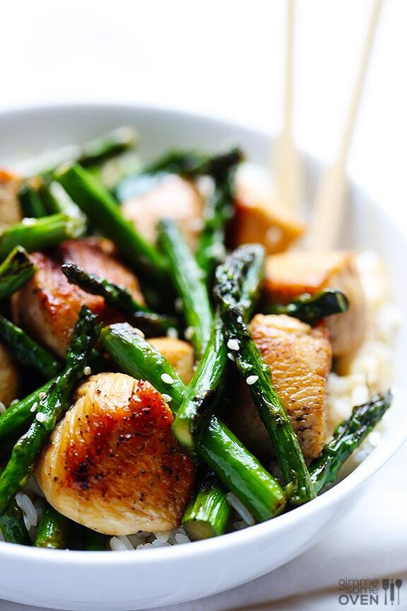 Chicken And Asparagus  chicken and asparagus stir fry recipe