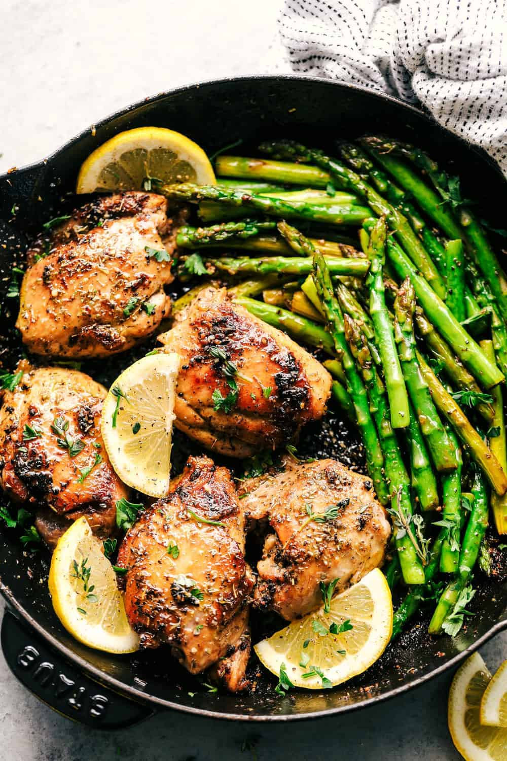 Chicken And Asparagus  Lemon Garlic Butter Herb Chicken with Asparagus
