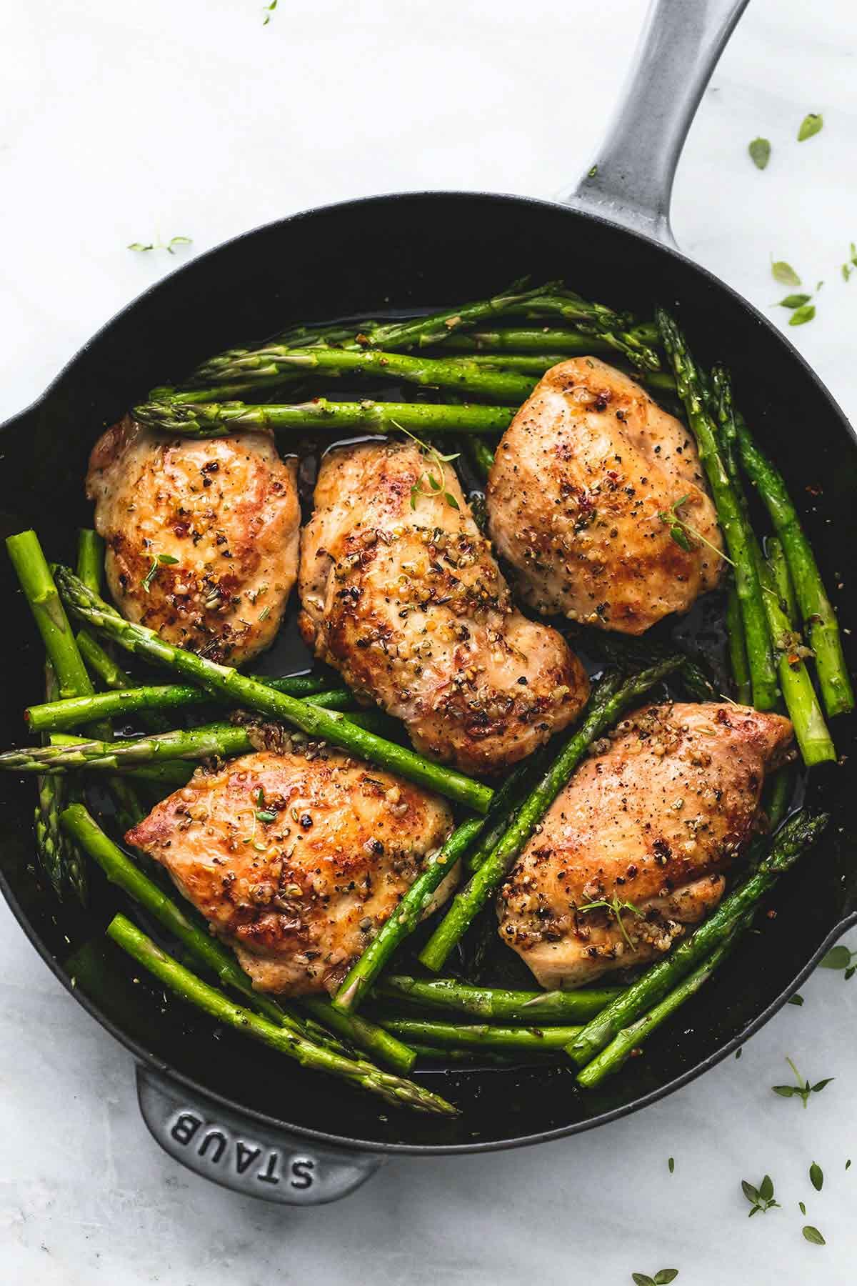 Chicken And Asparagus Recipe  e Pan Garlic Herb Chicken and Asparagus