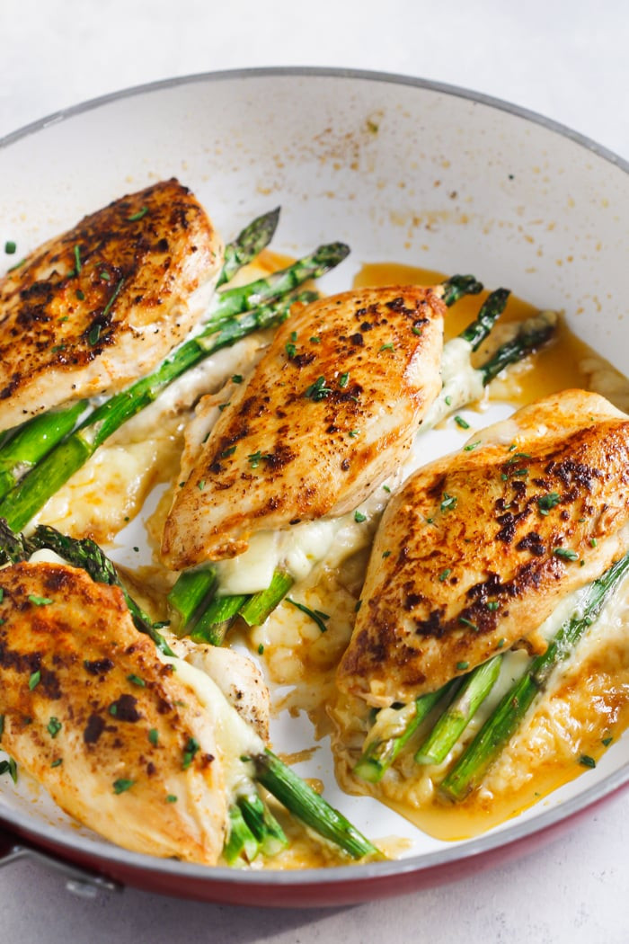 Chicken And Asparagus Recipe  Asparagus Stuffed Chicken Breast Delicious e Pan Dinner