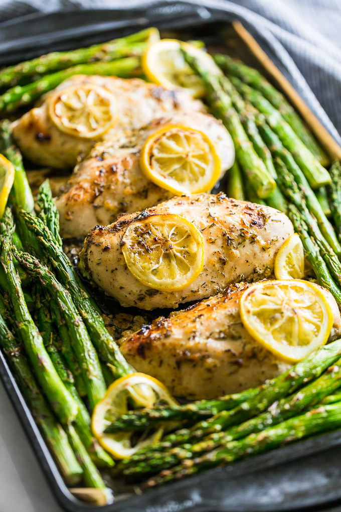 Chicken And Asparagus Recipe  Lemon Chicken and Asparagus Sheet Pan Dinner Recipes