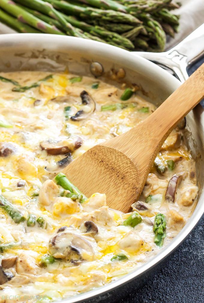 Chicken And Asparagus Recipe  e Pot Creamy Chicken and Asparagus Casserole Recipe Runner
