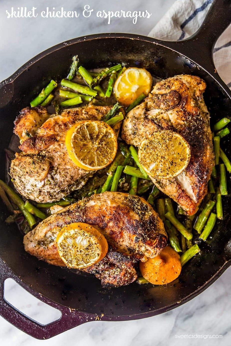 Chicken And Asparagus Recipe  e Pot Lemon Chicken and Asparagus
