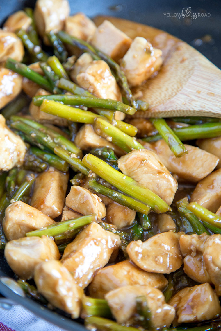 Chicken And Asparagus  Chicken and Asparagus Stir Fry Yellow Bliss Road