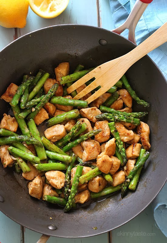 Chicken And Asparagus  Chicken and Asparagus Lemon Stir Fry Recipe