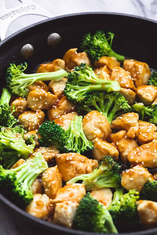 Chicken And Broccoli Recipes  Skillet Sesame Chicken & Broccoli