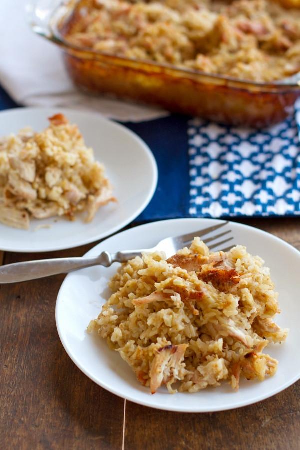 Chicken And Brown Rice Casserole  Chicken and Rice Casserole Recipe Pinch of Yum