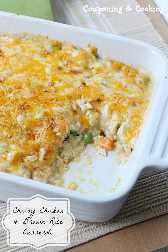 Chicken And Brown Rice Casserole  Tobins Tastes Cheesy Chicken & Brown Rice Casserole