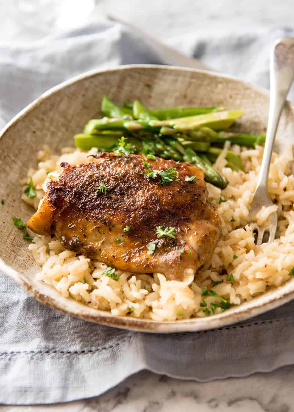 Chicken And Brown Rice  Oven Baked Chicken and Rice No Stove