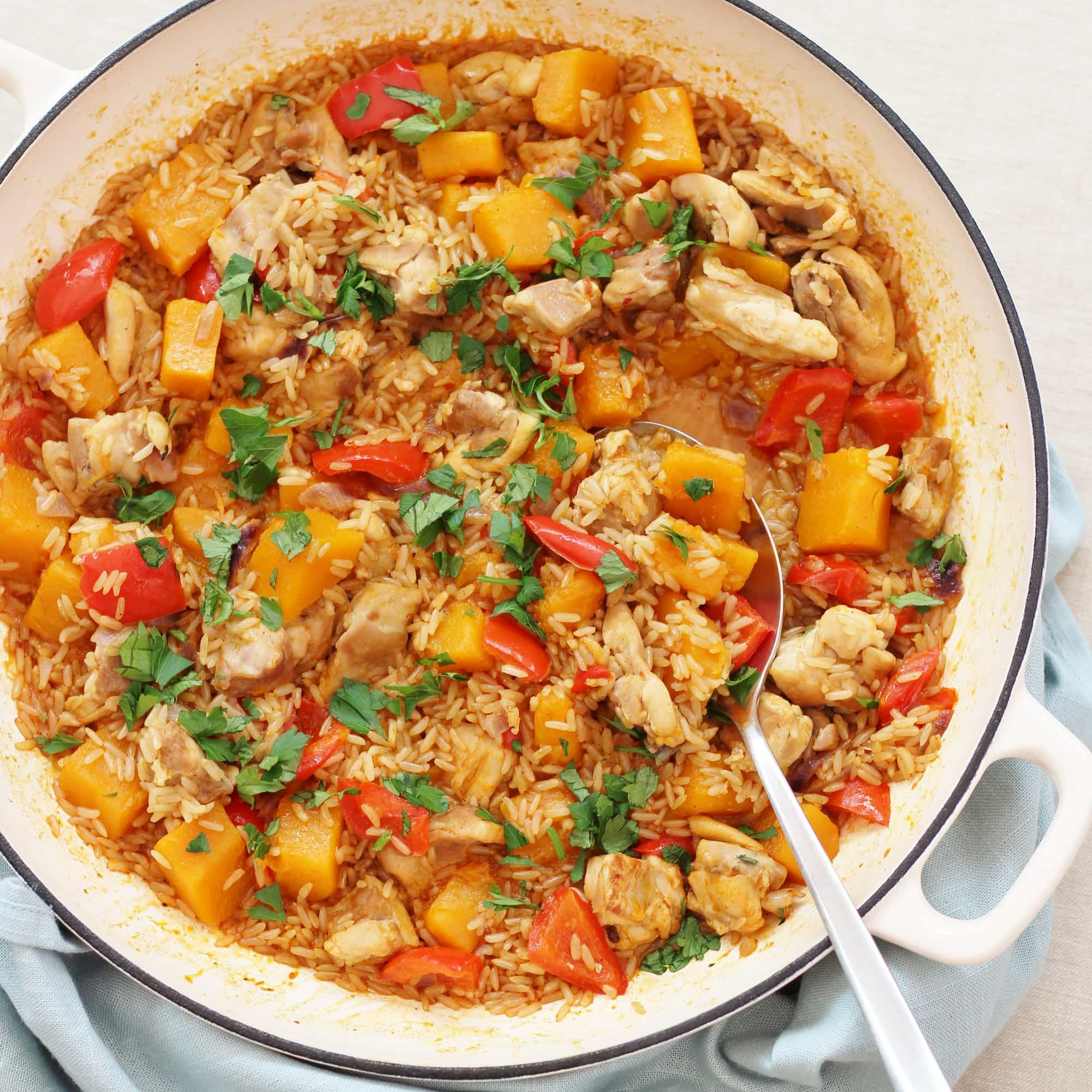 Chicken And Butternut Squash  e Pot Harissa Chicken and Butternut Squash Pilaf Easy