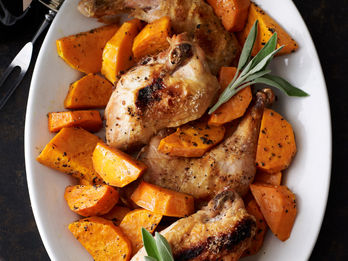 Chicken And Butternut Squash  Roast Chicken with Butternut Squash Recipe Quick From
