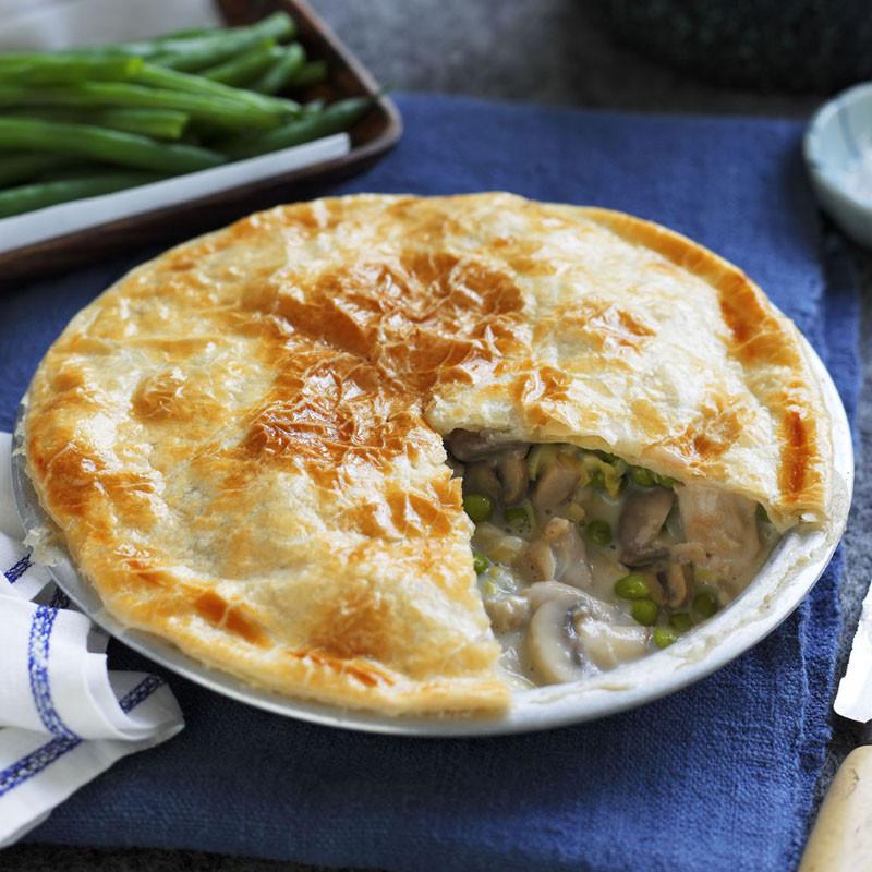 Chicken And Mushroom Pie  chicken and mushroom potato pie