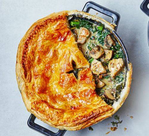 Chicken And Mushroom Pie  Chicken kale & mushroom pot pie recipe
