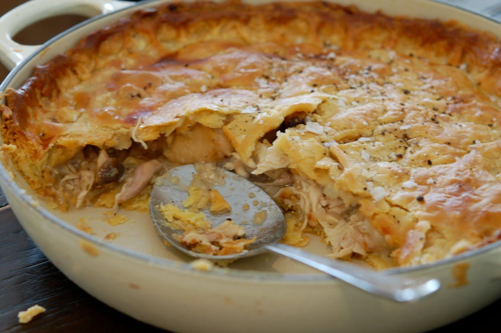 Chicken And Mushroom Pie  jamie who Chicken and Mushroom pie