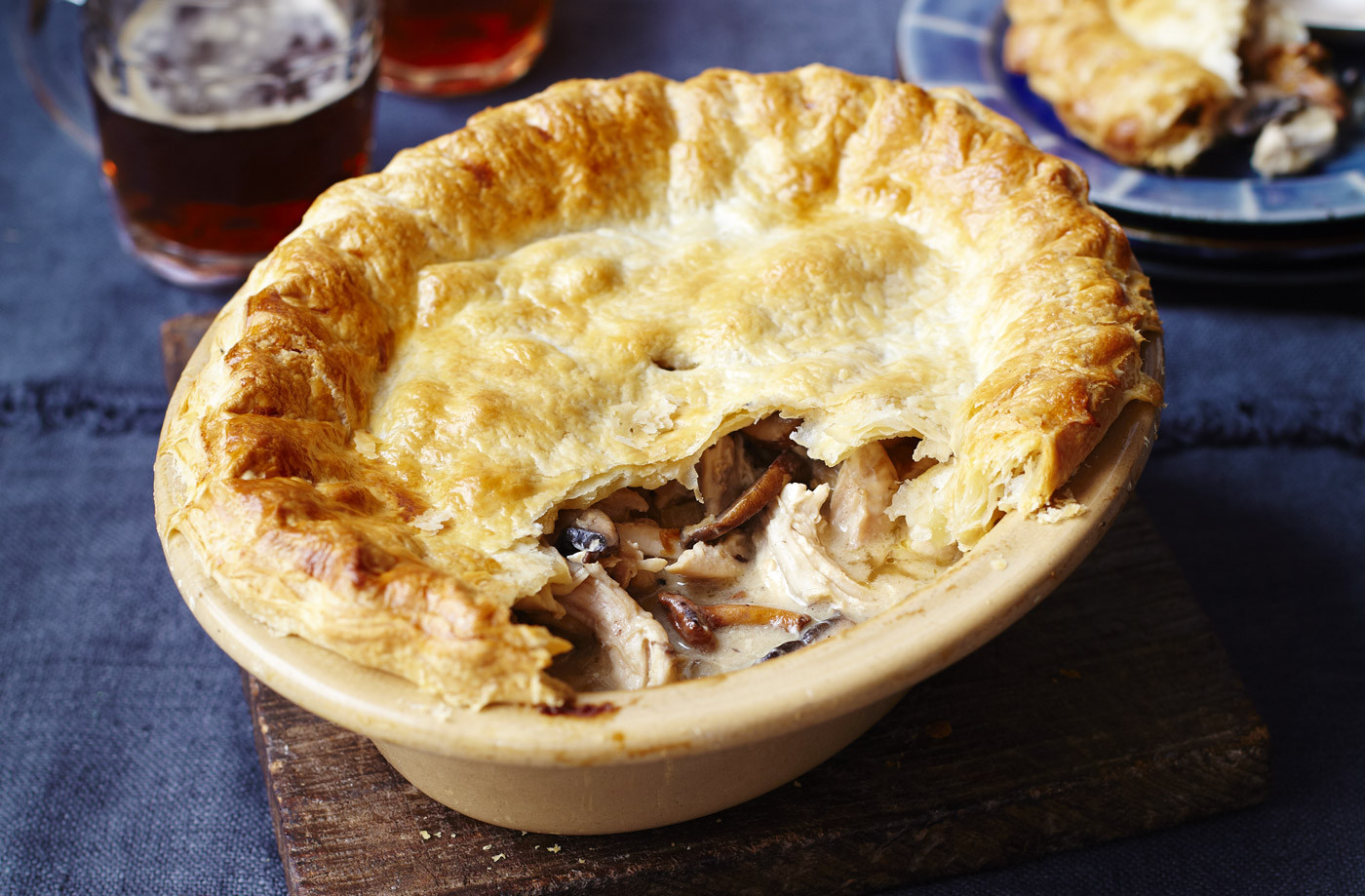 Chicken And Mushroom Pie  mushroom pie