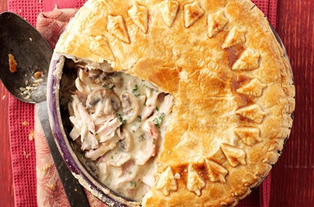 Chicken And Mushroom Pie  Chicken mushroom and bacon pie recipe goodtoknow